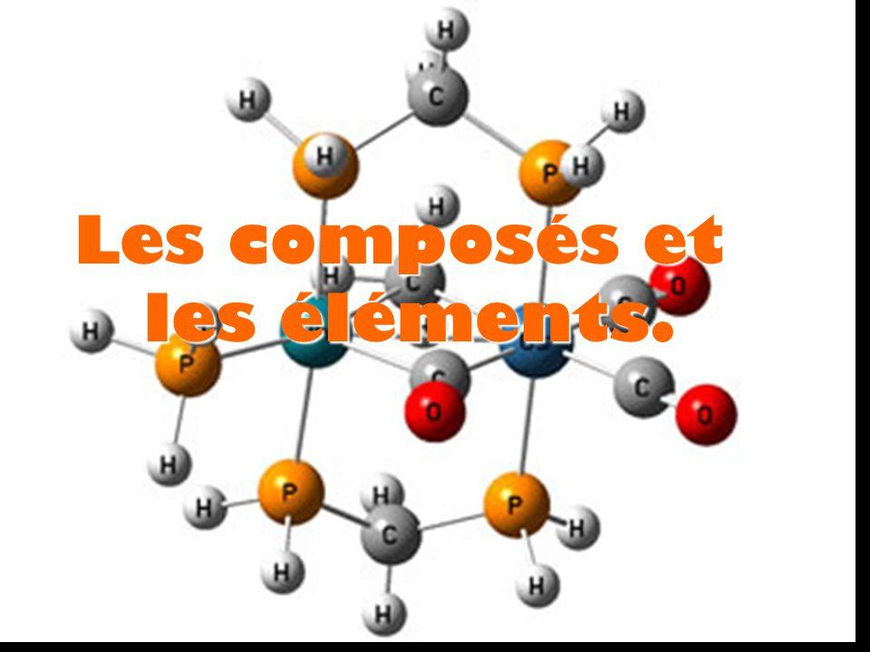 Les composés et les éléments.