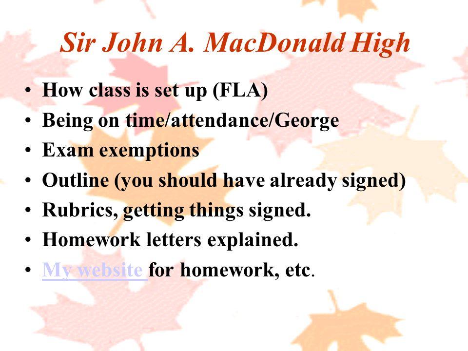 Sir John A.
