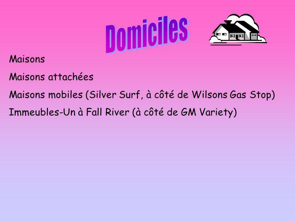 Maisons Maisons attachées Maisons mobiles (Silver Surf, à côté de Wilsons Gas Stop) Immeubles-Un à Fall River (à côté de GM Variety)