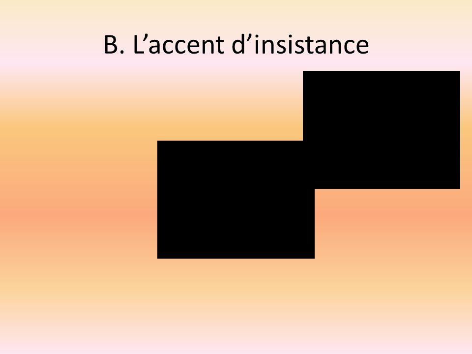 Exercice B: laccent dinsistance (lemphase sur le mot ou sur le groupe rythmique 1.Le poison 2.Le fauteuil roulant.