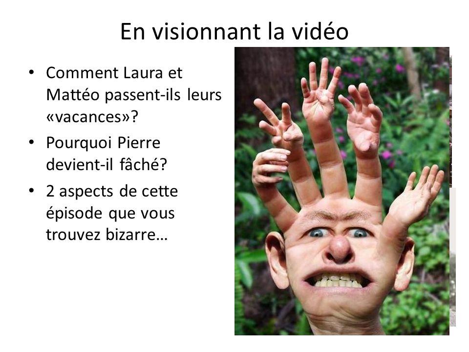 En visionnant la vidéo Comment Laura et Mattéo passent-ils leurs «vacances».