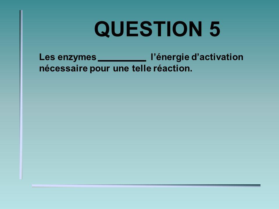 QUESTION 2 Dans une réaction acido-basique, il y a toujours la présence dun et dune. Acide et base