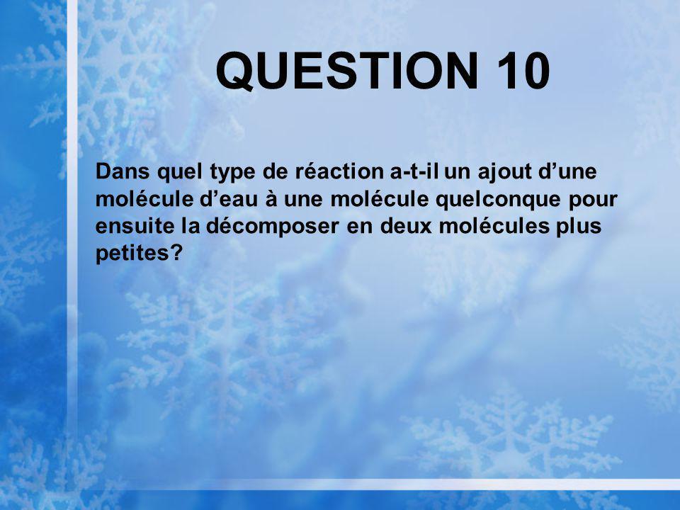 QUESTION 9 Dans une réaction doxydoréduction, lorsquun atome perd des électrons, on dit quil sagit dune.