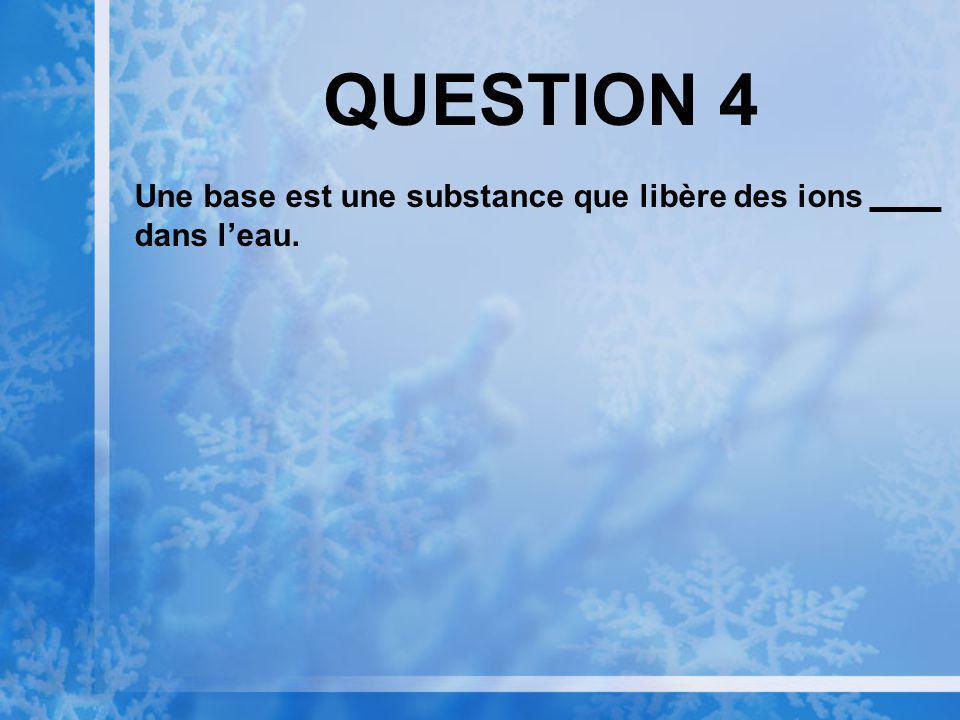 QUESTION 3 Le carbone va souvent former des chaînes datomes de carbone quon appelle