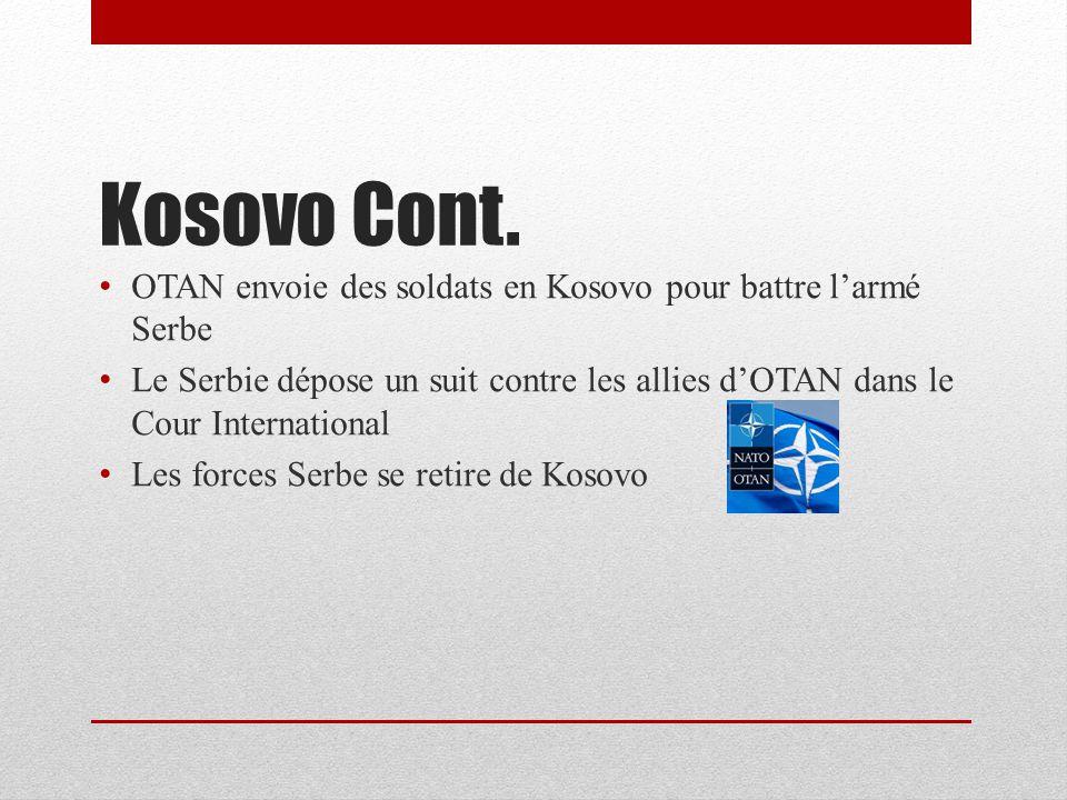 Kosovo Cont.