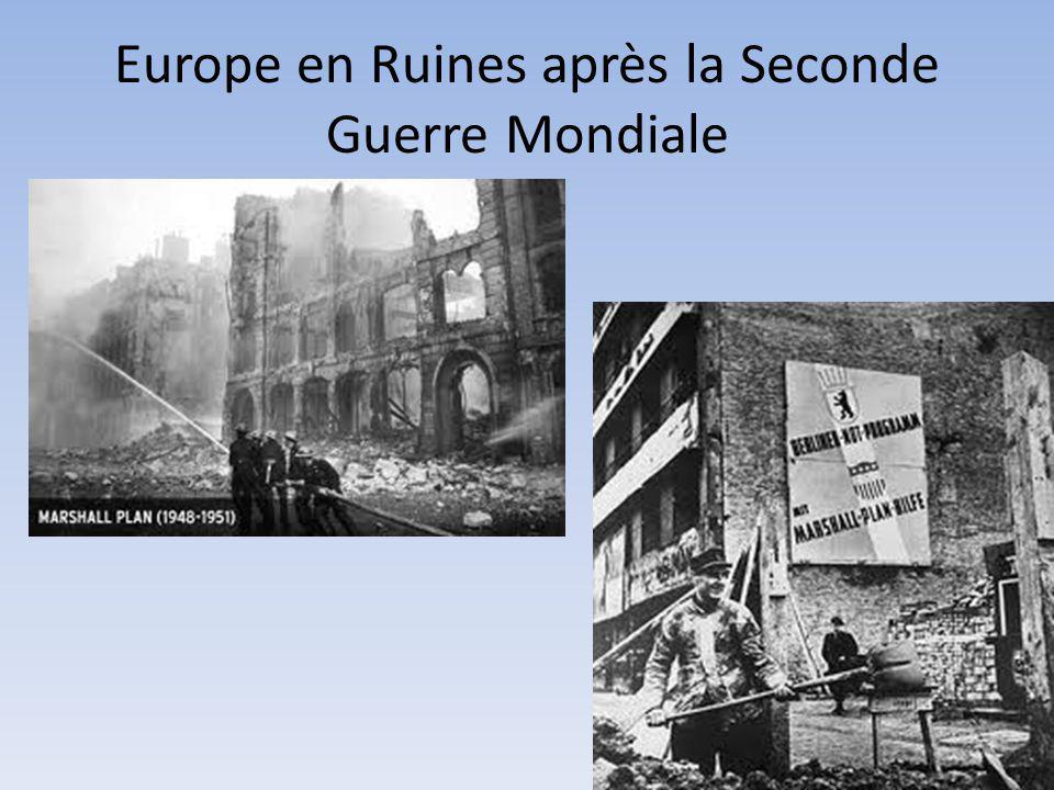 Europe en Ruines après la Seconde Guerre Mondiale