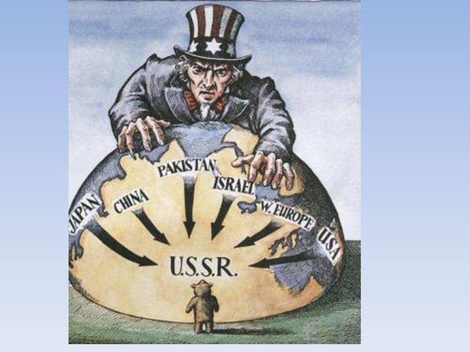 La Doctrine Truman En faisant ceci, les É-U espéraient contenir le communisme (Politique d Endiguement) et l empêcher de s étendre à d autres pays, surtout à l Europe, dévastée par la DGM.