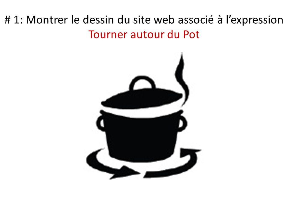 # 1: Montrer le dessin du site web associé à lexpression Tourner autour du Pot