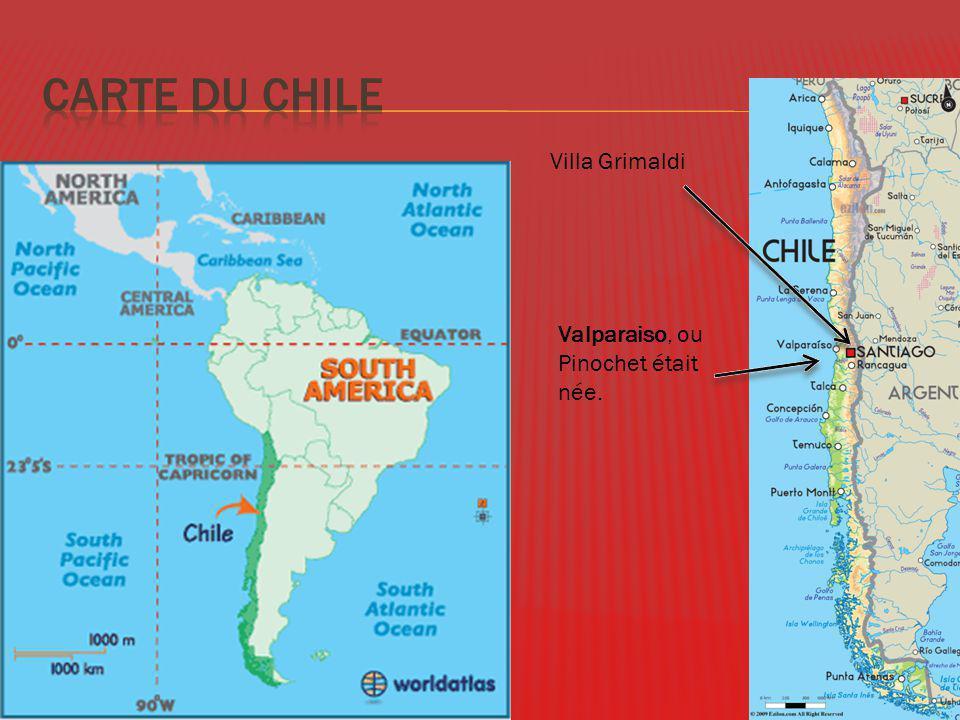 Le 25 Novembre 1915- le 10 Décembre 2006 Décembre mille neuf cent soixante quatorze, Pinochet est nomme président, il a été remplacé en mille neuf cent quatre-vingts dix.