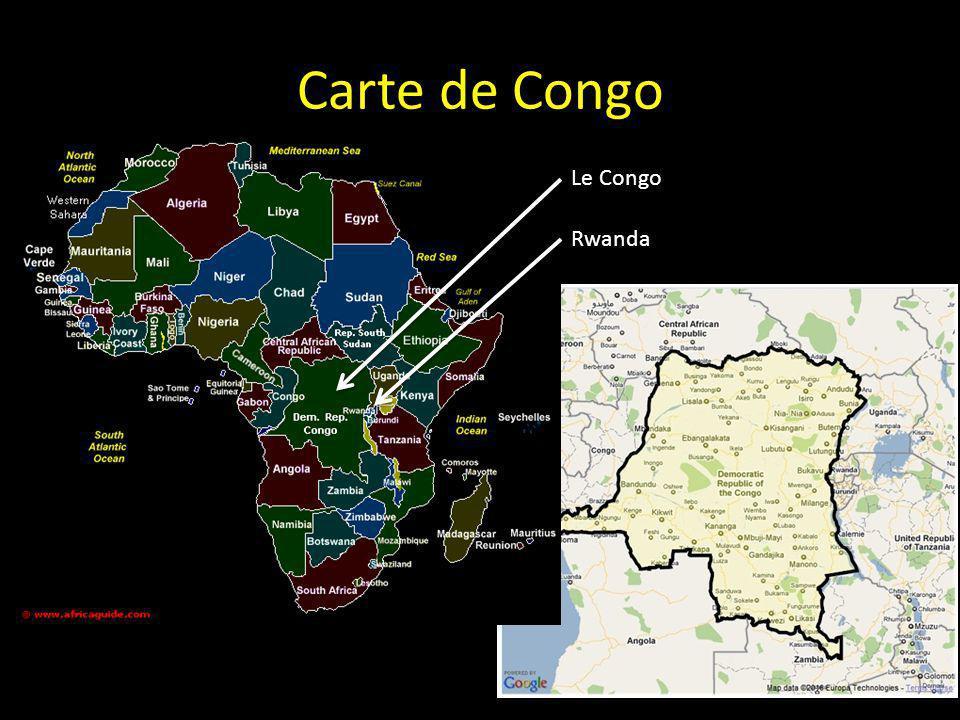 Carte de Congo Le Congo Rwanda