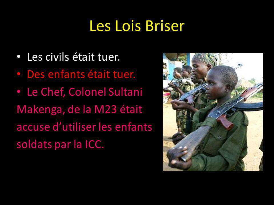 Les Lois Briser Les civils était tuer. Des enfants était tuer.