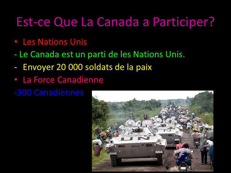 Est-ce Que La Canada a Participer. Les Nations Unis - Le Canada est un parti de les Nations Unis.