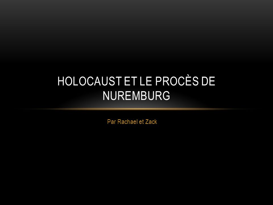 a condemnation after such a proceeding will meet the judgment of history, so that the Germans will not be able to claim that an admission of war guilt was extracted from them under duress.