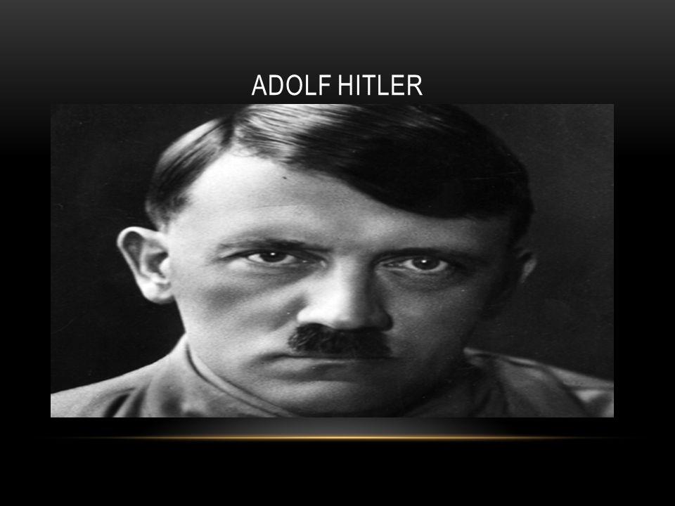 HISTOIRE DE LHOLOCAUST Adolf Hitler (20 avril 1889- 30 avril 1945) sur le 20 janvier,1933 Hitler a devenu la chancelier de l allemange après le mort du président Paul Von Hindenburg.