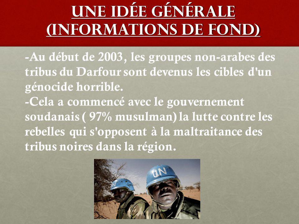 Personnages Importantes KhalilKhalil Ibrahim (JEM) Omar Al-Bashir (Président du Soudan) Les Four, les Zaghawa, les Masalit (Darfur Liberation Front)