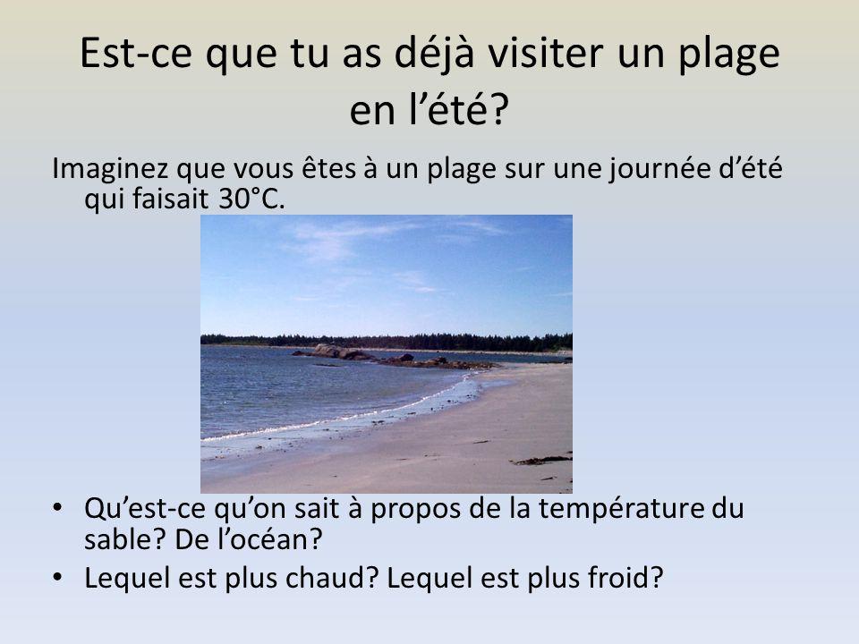 Qui a déjà visiter un plage en nuit.Quelle est la température du sable.