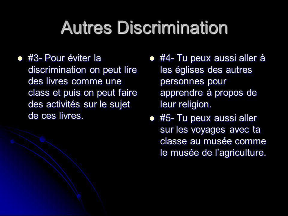 Autres Discrimination #3- Pour éviter la discrimination on peut lire des livres comme une class et puis on peut faire des activités sur le sujet de ces livres.