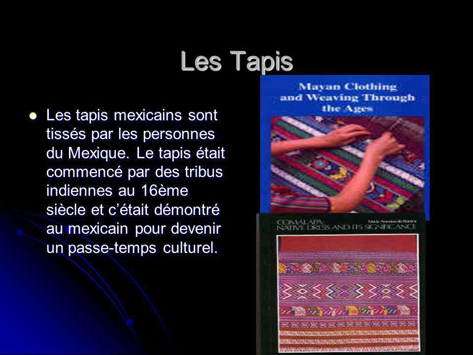 Les Tapis Les tapis mexicains sont tissés par les personnes du Mexique.