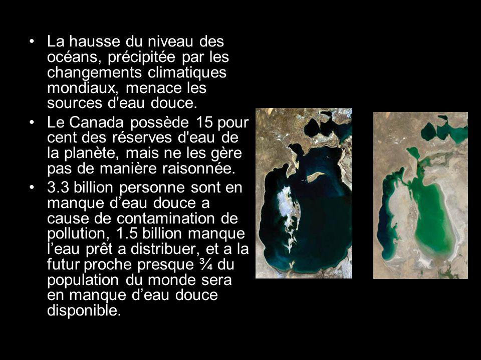 2/5 la population des poisons du monde sont des espèces deau douce et de ces espèces 20% sont en danger, ou déjà étant a cause de crise deau frais.