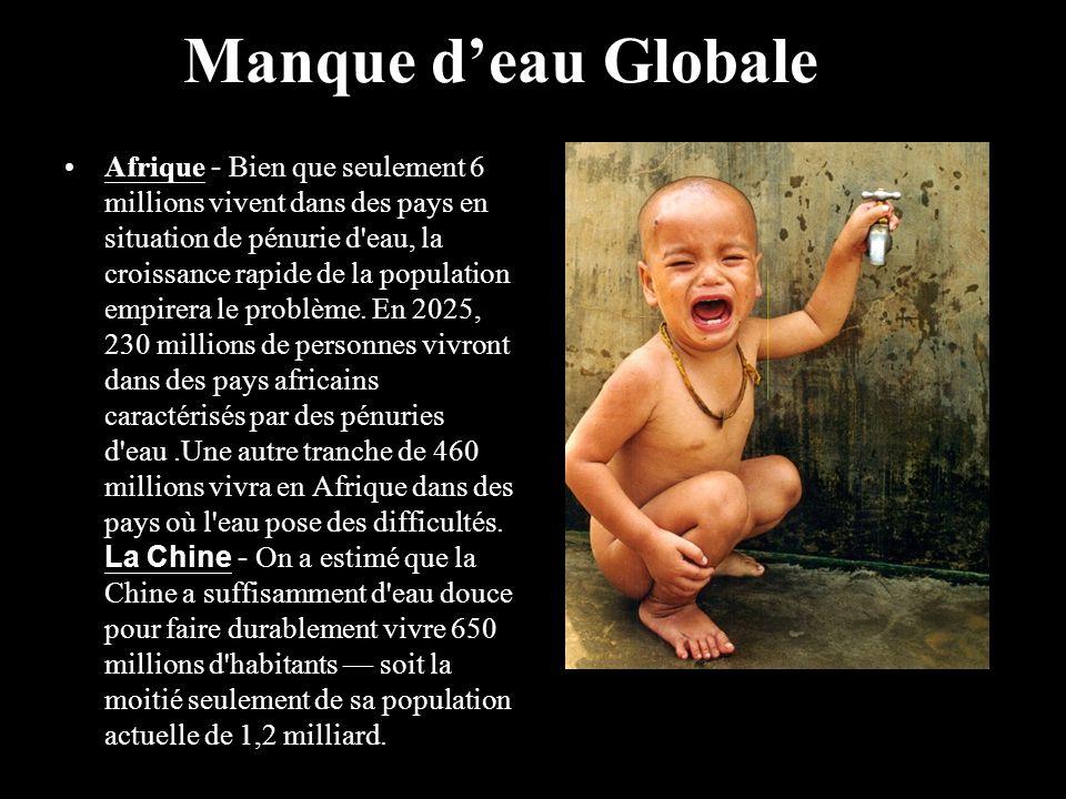 Afrique - Bien que seulement 6 millions vivent dans des pays en situation de pénurie d'eau, la croissance rapide de la population empirera le problème