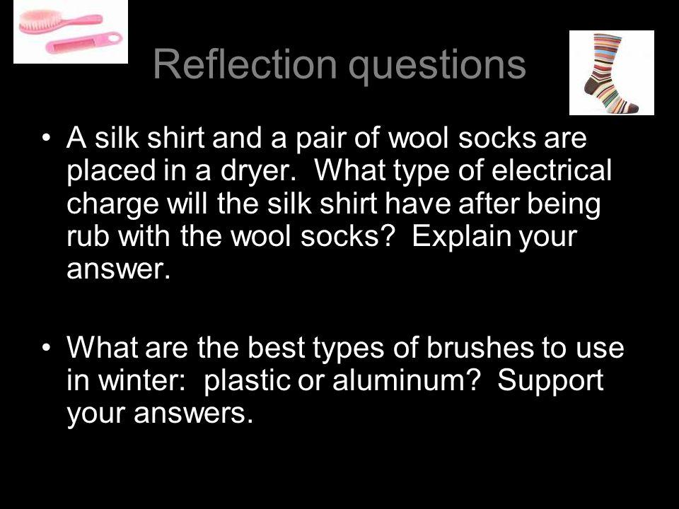 List of electrostatic substances Acetate Glass Wool Cat hair, human hair Calcium, magnesium, lead Silk Aluminum, zinc Cotton Wax Ebony Plastic Carbon,