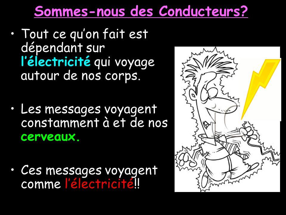 La Conduction Électrique La Conduction est la mouvement des électrons à travers une substance. Le mouvement des électrons sappelle le Courant Électriq