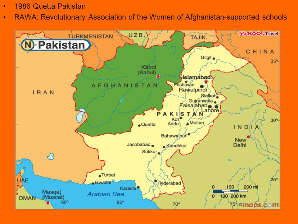 1986 Quetta Pakistan RAWA: Revolutionary Association of the Women of Afghanistan-supported schools
