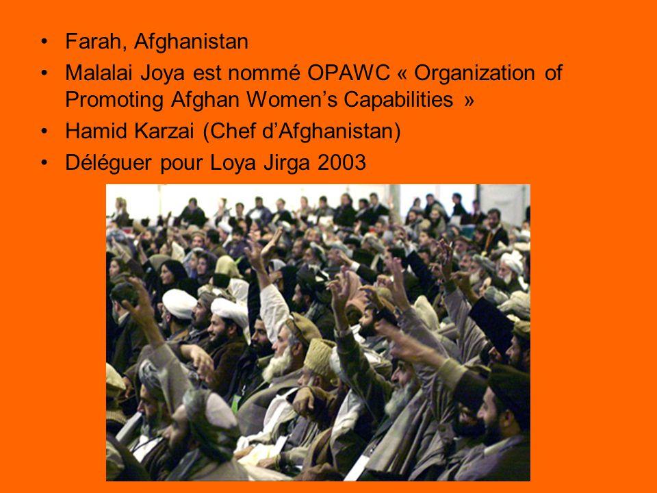Le Discours de Loya Jirga 2003 http://www.youtube.com/watch?v=iLC1KBrwbck