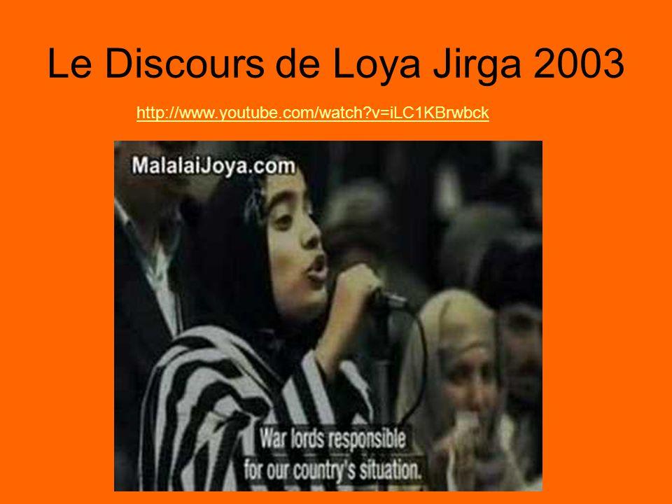 LActualité 1.Le banni de Malalai Joya par Parlement en 2007 parce quelle a dit la vérité et quelle a essayé daider leur pays.