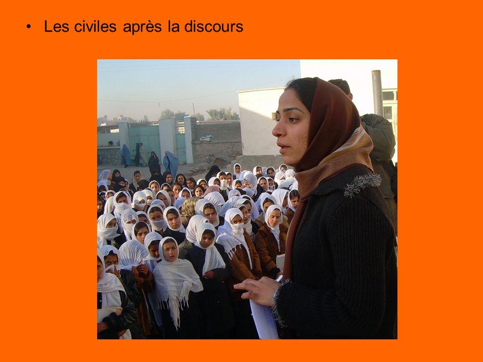Les civiles après la discours