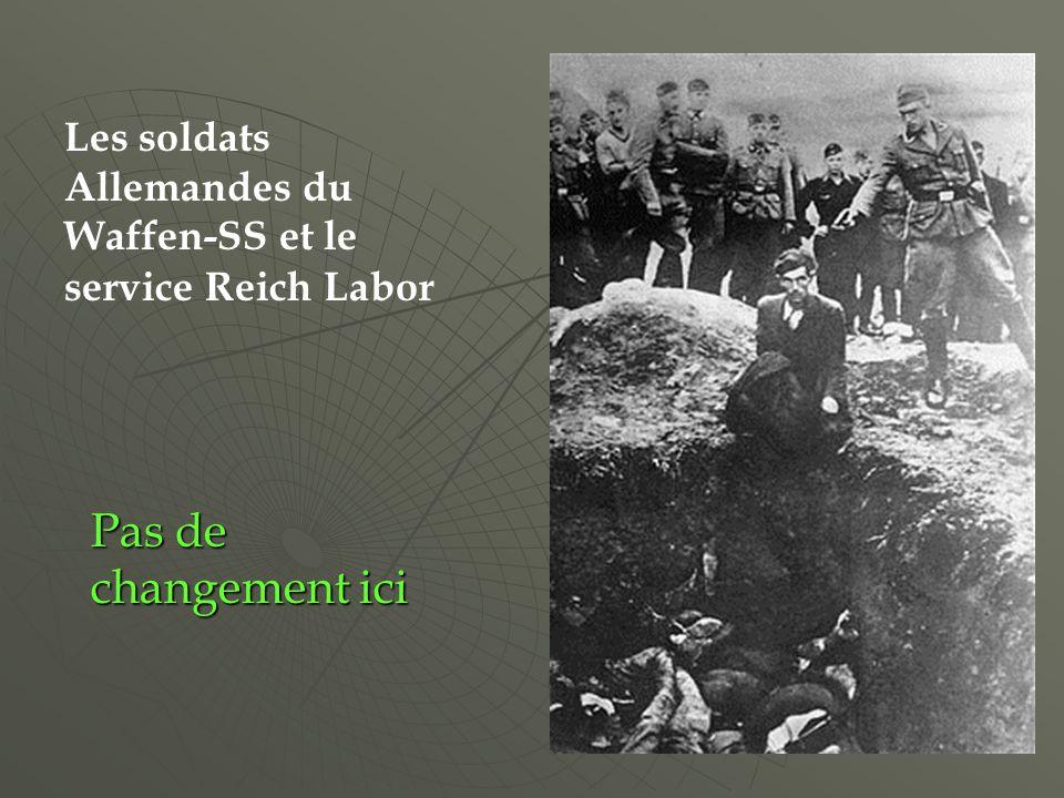 Les soldats Allemandes du Waffen-SS et le service Reich Labor Pas de changement ici
