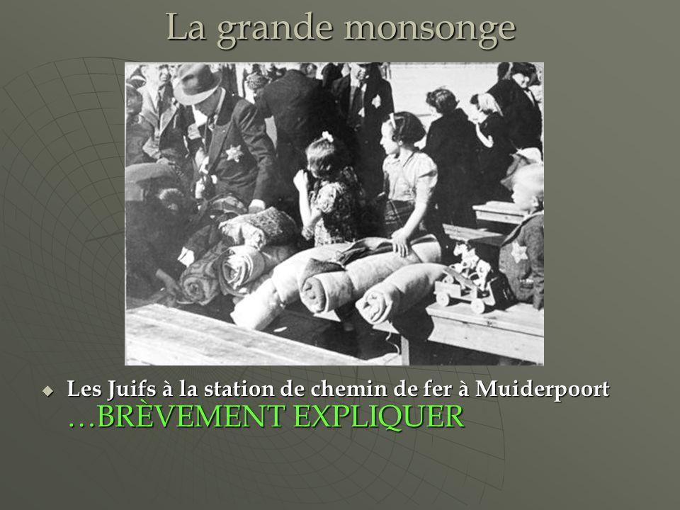 La grande monsonge Les Juifs à la station de chemin de fer à Muiderpoort …BRÈVEMENT EXPLIQUER Les Juifs à la station de chemin de fer à Muiderpoort …BRÈVEMENT EXPLIQUER