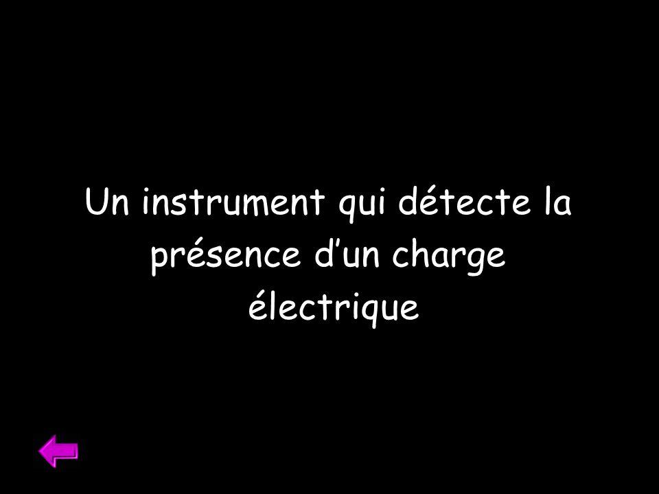 Un instrument qui détecte la présence dun charge électrique