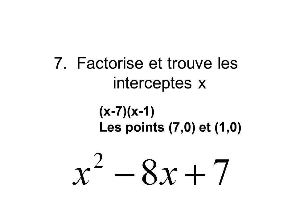 6.Trouve y quand x = 8 Y = -3