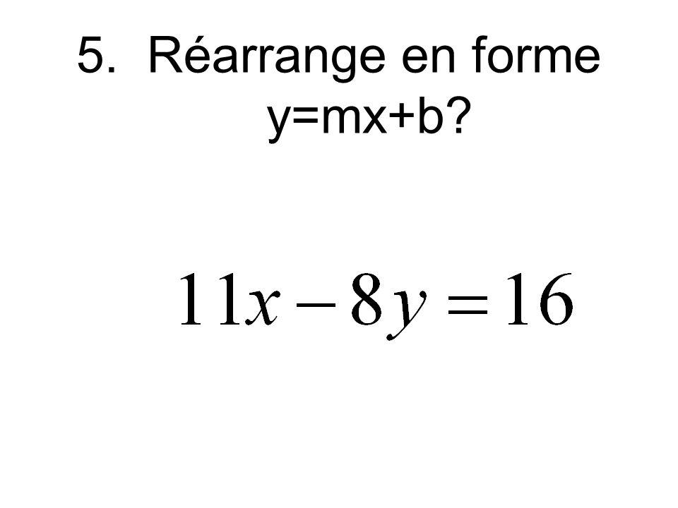 4.Quel est y quand x = 5 pour