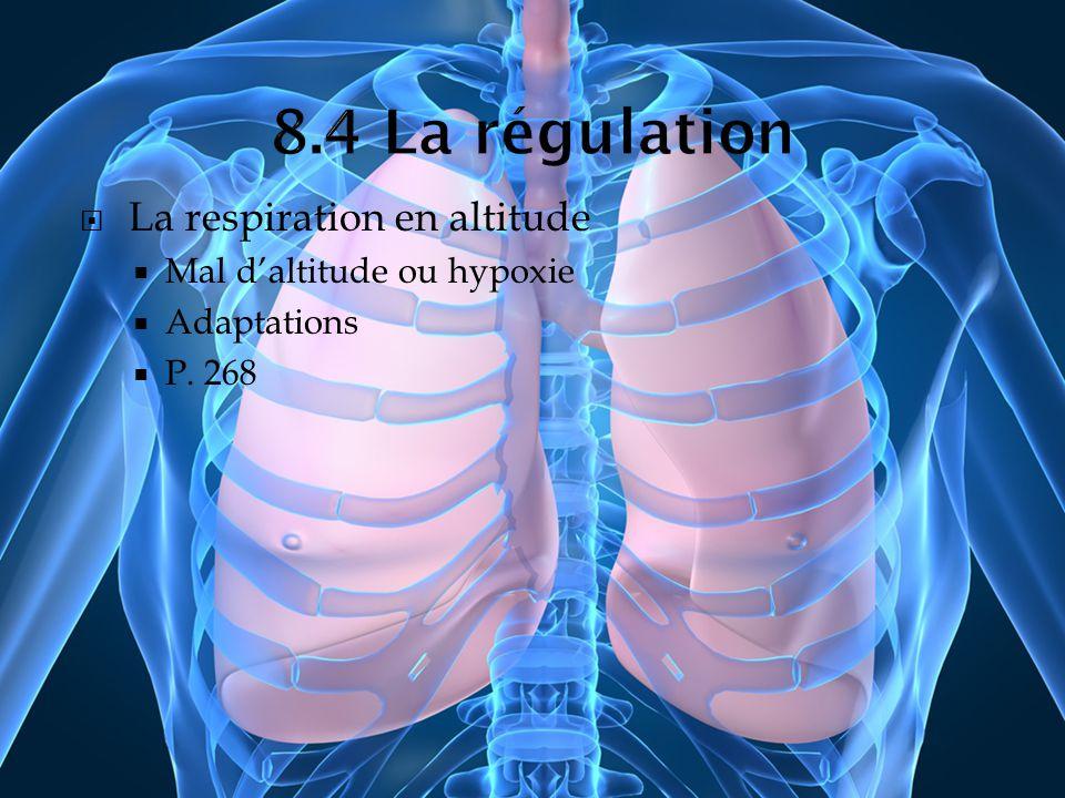 La respiration en altitude Mal daltitude ou hypoxie Adaptations P. 268