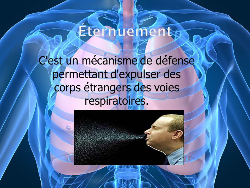 C'est un mécanisme de défense permettant d'expulser des corps étrangers des voies respiratoires.