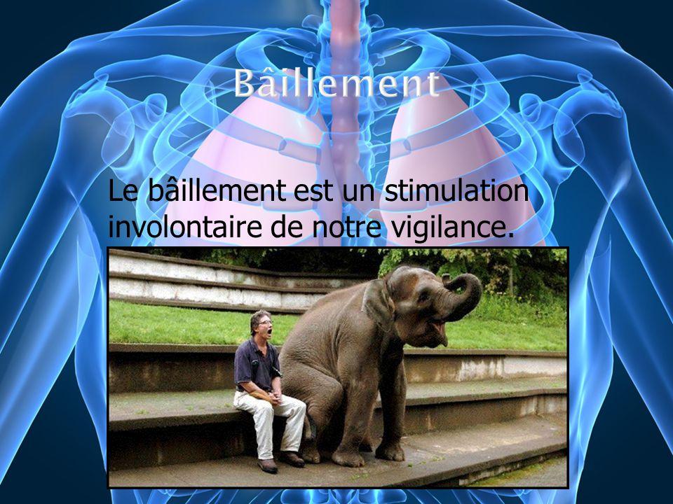 Le bâillement est un stimulation involontaire de notre vigilance.