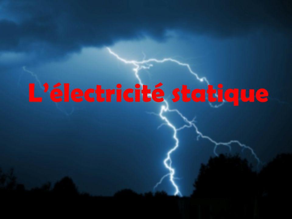 Lélectricité statique