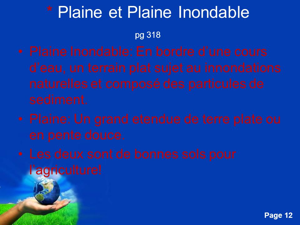 Free Powerpoint Templates Page 13 Mon photo dun Plaine Inondable