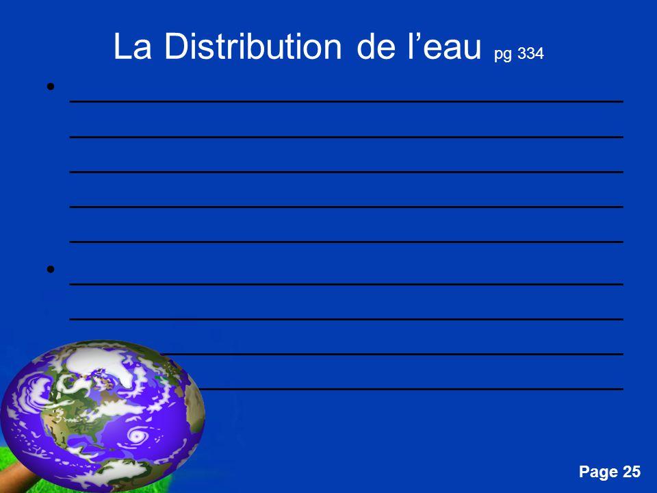 Free Powerpoint Templates Page 25 La Distribution de leau pg 334 __________________________________ __________________________________ _______________