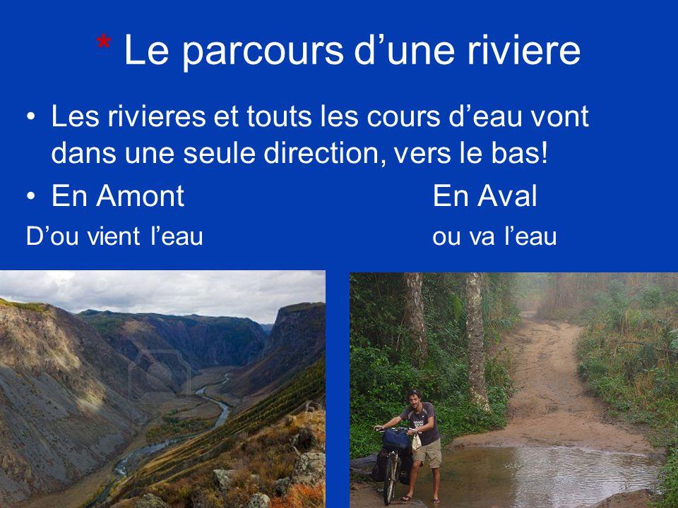 Free Powerpoint Templates Page 6 * Le parcours dune riviere Les rivieres et touts les cours deau vont dans une seule direction, vers le bas! En Amont