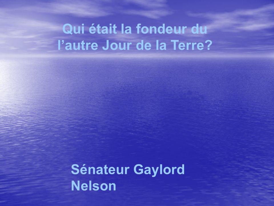 Qui était la fondeur du lautre Jour de la Terre Sénateur Gaylord Nelson