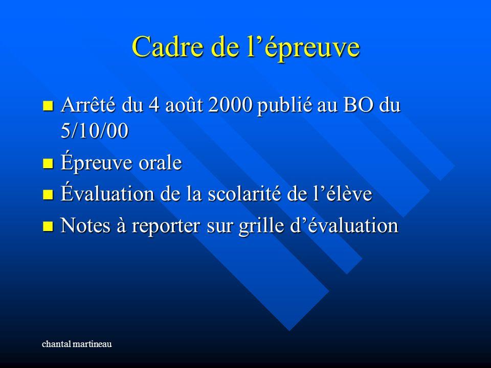 chantal martineau SECTION EUROPEENNE en Lycée Professionnel Épreuve spécifique de langue Cadrage de lépreuve