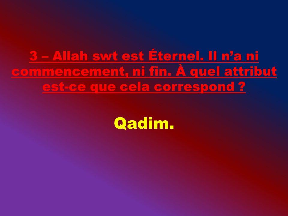 9 – Que signifie Qadir ?