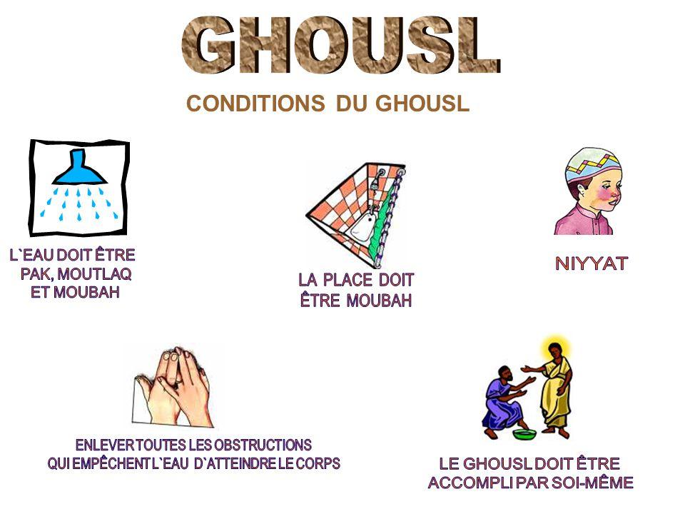 CONDITIONS DU GHOUSL