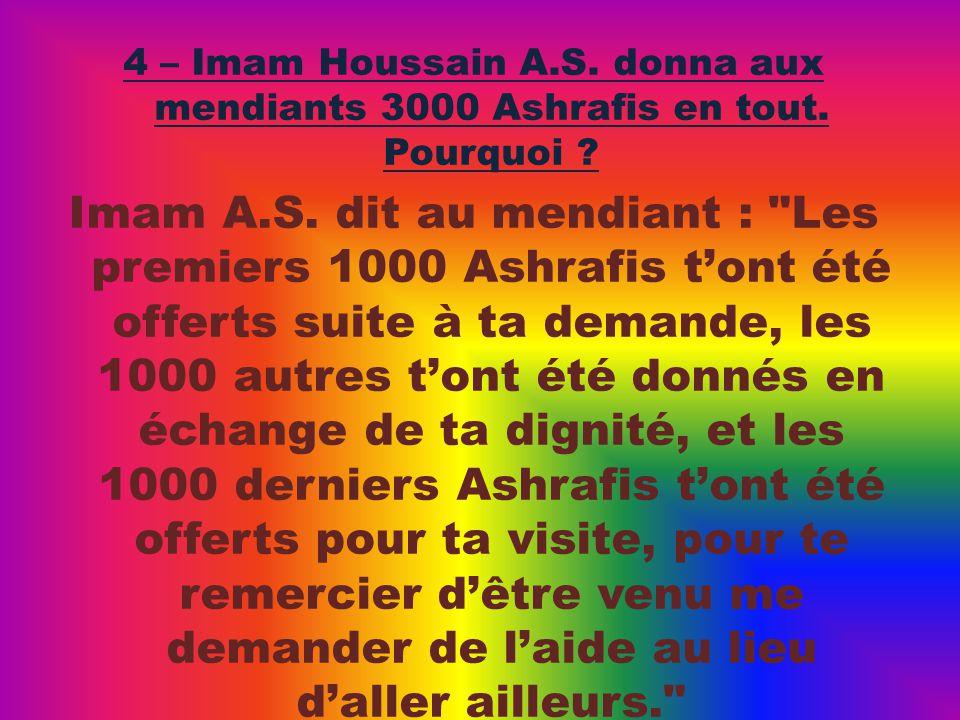 Imam A.S. dit au mendiant :