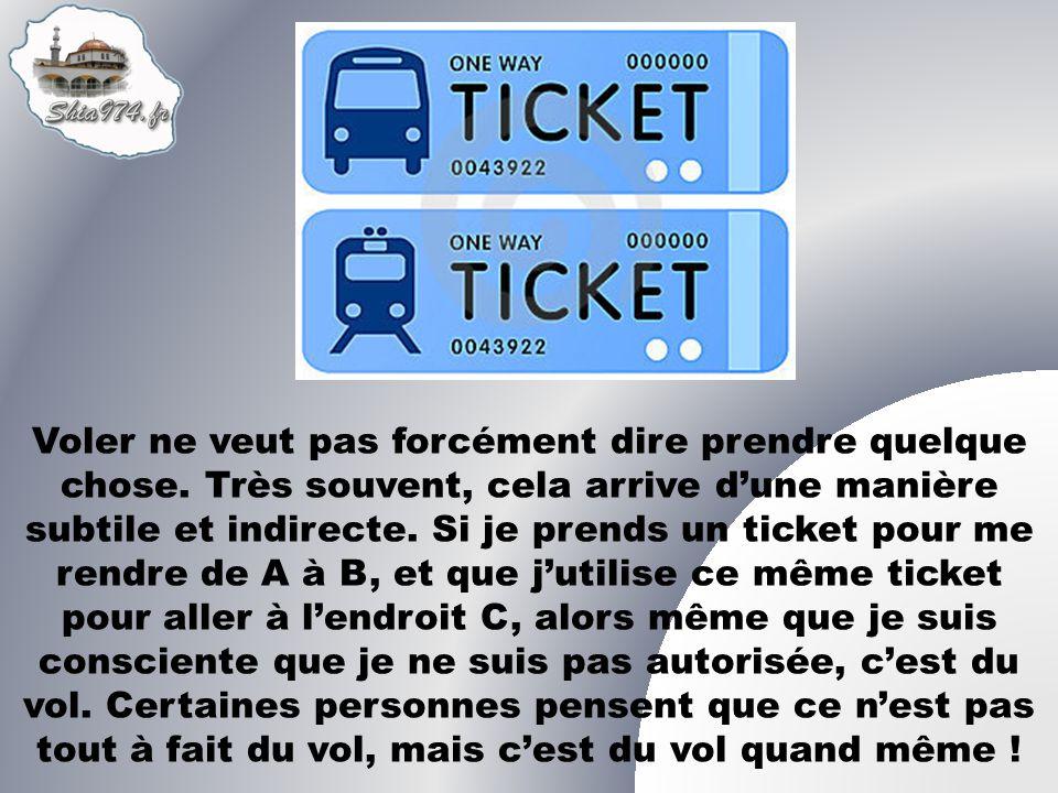 Que pensez vous de quelquun qui utilise le ticket ou la carte dun autre pour effectuer un trajet .