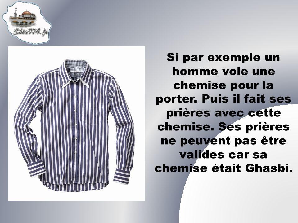 Si par exemple un homme vole une chemise pour la porter.