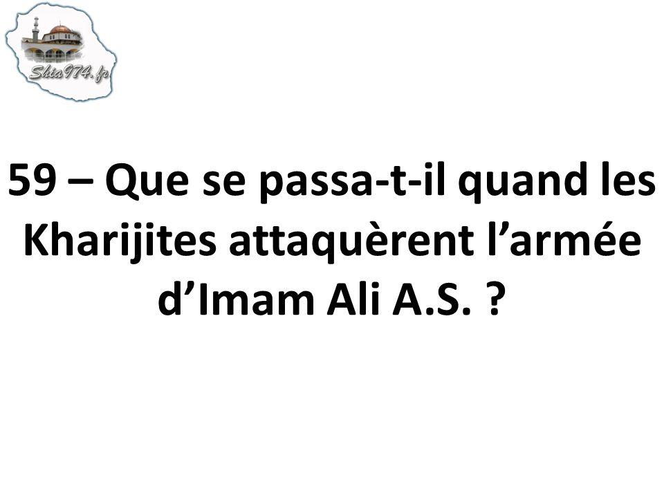59 – Que se passa-t-il quand les Kharijites attaquèrent larmée dImam Ali A.S. ?